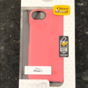 Pink Blue Otter box Symmetry Case iPhone 7